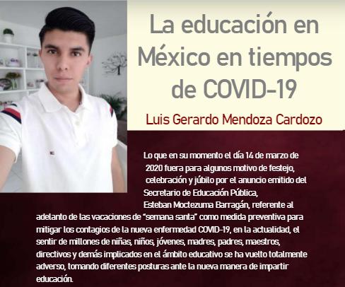La educación en México en tiempos de COVID-19